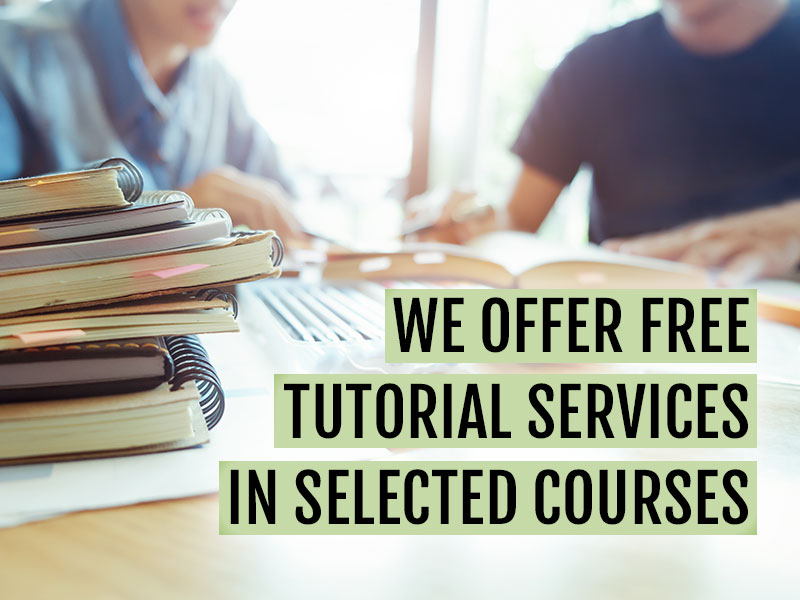 List of courses tutoring is available for